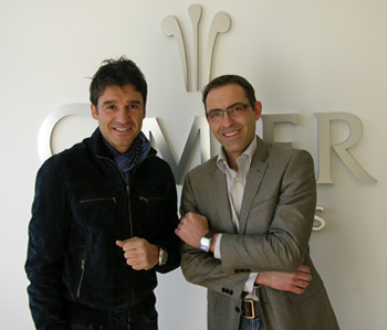 Massimo Busacca with Cimier CEO Martin Bärtsch