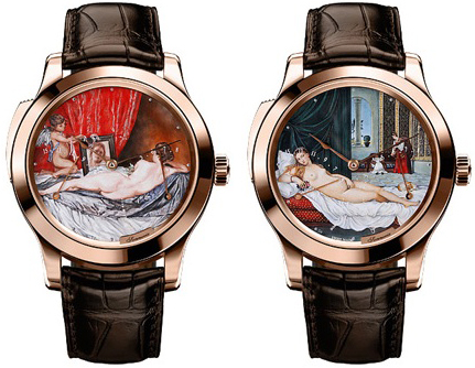 "Jaeger-LeCoultre Master Minute Repeater Venus (""Venus at her Mirror"" by Diego Velazquez and the ""Venus of Urbino"")"
