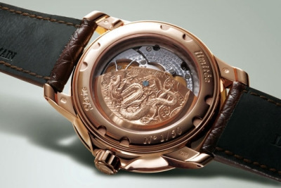 Caruso Chinese Dragon Limited Edition watch backside