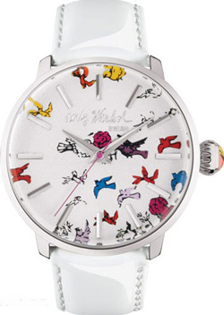 watch in the pop art style by Andy Warhol