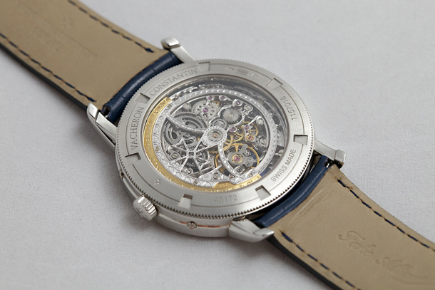 Patrimony Traditionnelle Skeleton Perpetual Calendar watch caseback