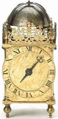 desk clock with symbols of death, made in 1623 by the English clockmaker William Boyer