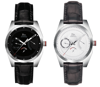 "Chiffre Rouge C01 ""Black alligator"" (Ref. CD084C10A002) and Chiffre Rouge C01 ""Slate grey alligator"" (Ref. CD084C10A001)"