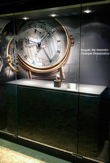 Breguet Exposition in Geneva Airport