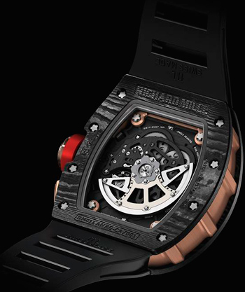 RM 011 watch caseback from NTPT® with namber engraving 001