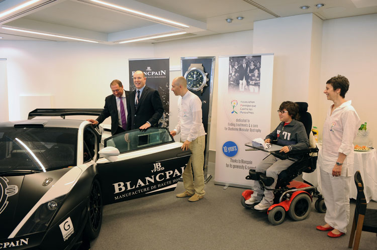 Blancpain realised an exceptional auction for the Monaco Association Against Muscular Dystrophy