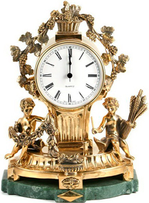 desk clock with gold