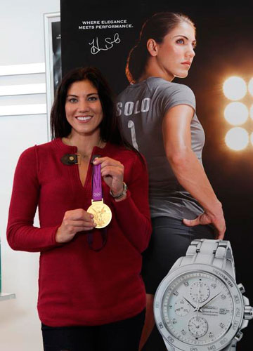 Hope Solo with Seiko watch
