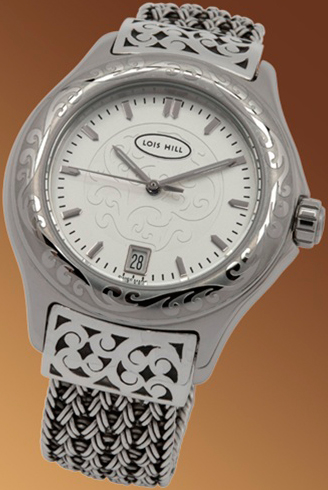 ladies silver watch Lois Hill 6156-1201