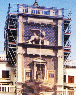 clock tower restoration in Venice