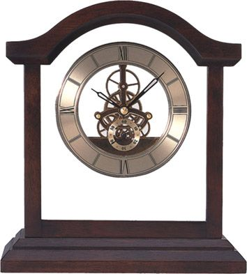 wooden desk skeleton clock Acetime Skeleton 8439