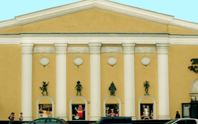 The facade of the Moscow Puppet Theatre