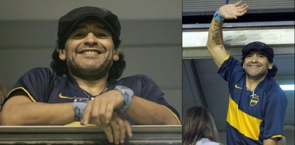 Diego Maradona with ODM watch