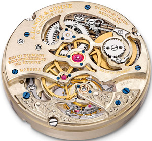 Richard Lange Tourbillon Pour le Merite Handwerkskunst watch movement