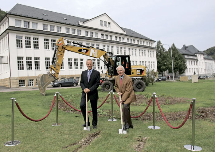 Wilhelm Schmid (left) and Walter Lange (right) at the ground-breaking ceremony on 5th September 2012