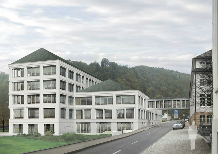 Impression of the new building of A. Lange & Söhne