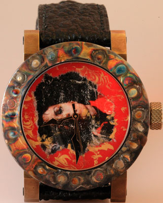 Artya watch decorated with a portrait of Michael Jackson