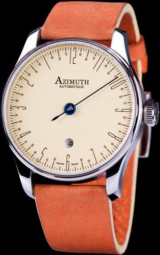 Azimuth Back in time watch with reverse stroke
