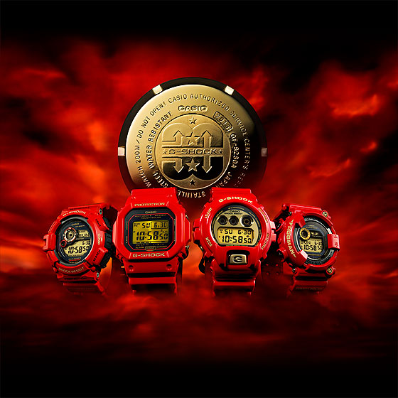 anniversary models of G-SHOCK