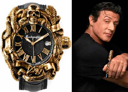 Sylvester Stallone and Chaos Automatic Analogue watch