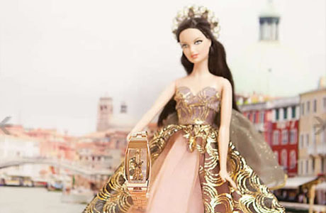 Barbie Couture Angel presents Corum Miss watch