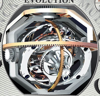 tourbillon with three axises by Frank Muller