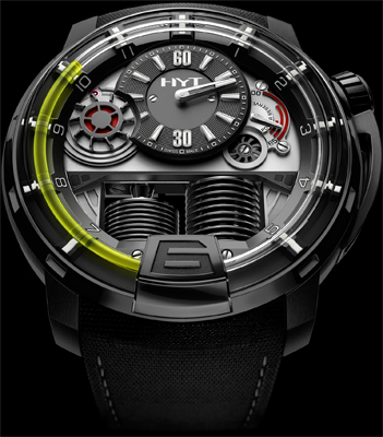 HYT H1 Hydro Mechanical Watch Black DLC