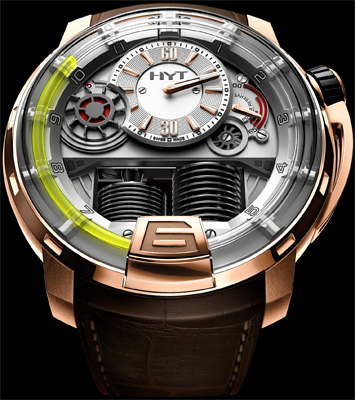 HYT H1 Hydro Mechanical Watch Pink gold (5N)