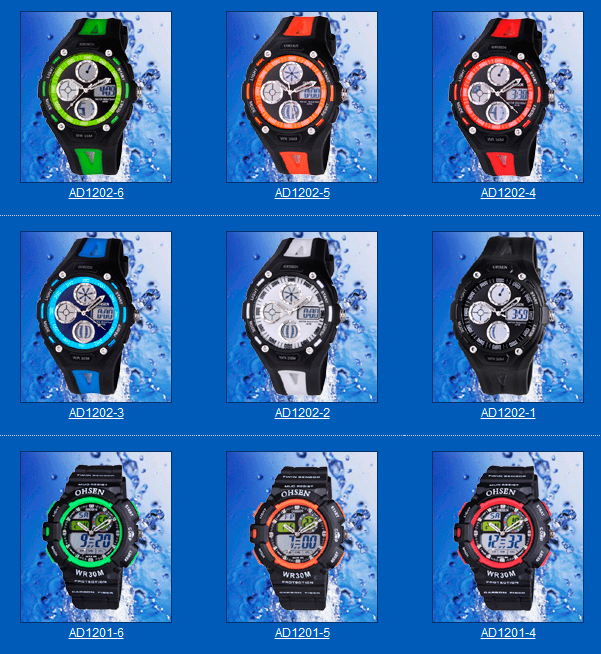 Ohsen-SJumping-figure-Watches-Plastic