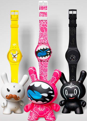 Exclusive animals Kidrobot and Swatch watches will delight your child