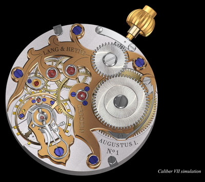 Manufacturing movement with manual winding Caliber VII