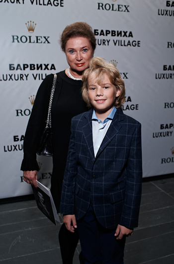 Liliya Shedrina with son