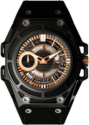 Spidolite II Black Gold watch by Linde Werdelin