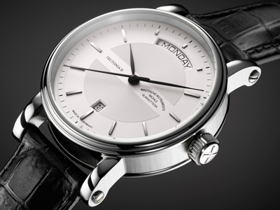 Mühle-Glashütte Teutonia II Tag/Datum watch