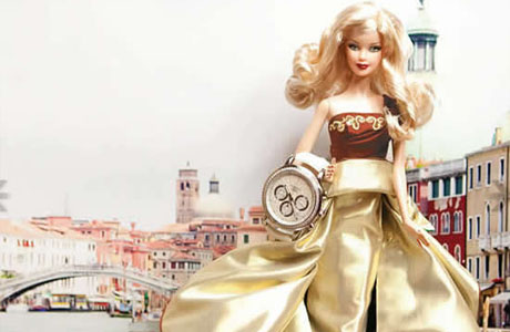 Barbie doll presents Chopard Mille Miglia Lady watch