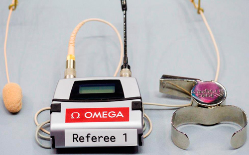 Recognition system of whistles during hockey matches