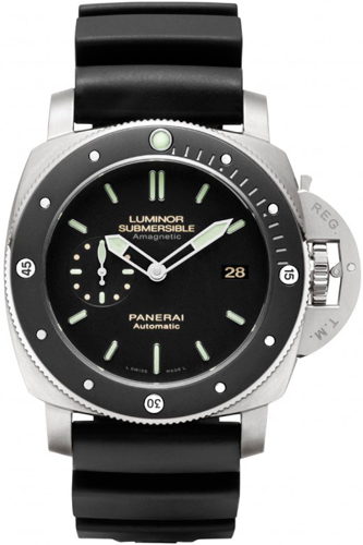 Luminor Submersible 1950 Amagnetic 3 Days Automatic Titanio (PAM 389)