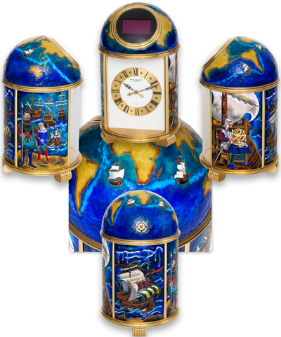 Le Tour du Monde de Magellan – desk clock by Patek Philippe
