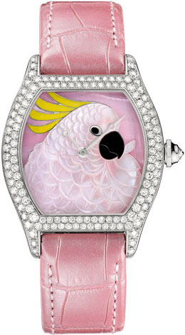 Large model Tortue, Cockatoo motif watch