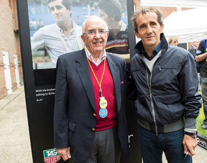 Jack Heuer and Alain Prost at Goodwood Festival of Speed