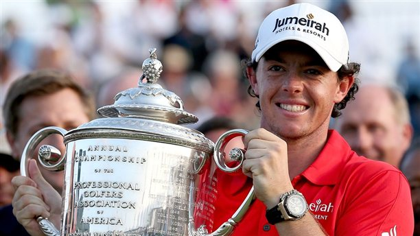 Rory McIlroy with Audemars Piguet Royal Oak Offshore Chrono watch