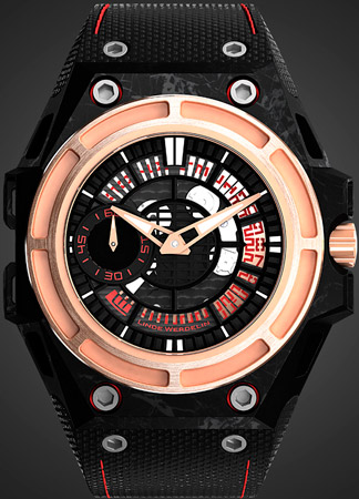 SpidoLite II Tech Gold watch by Linde Werdelin