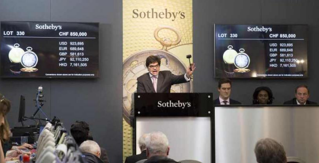 "Geoffroy Ader at Sotheby `s ""Significant Watches"" in Geneva, Switzerland"