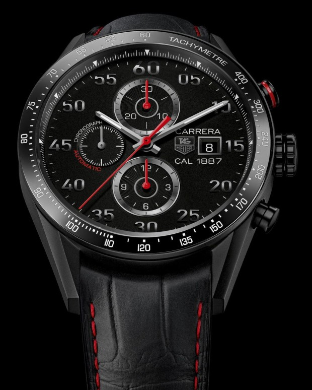 New carrera 1887 titanium racing chronograph by tag heuer for Tag heuer grand carrera mercedes benz sls limited edition price