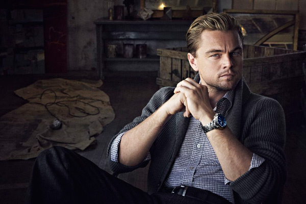 "Leonardo DiCaprio with Limited Edition ""Leonardo Dicaprio"" Link Calibre 16 Chronograph watch"