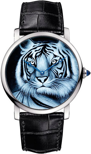 Rotonde de Cartier Tiger Motif watch
