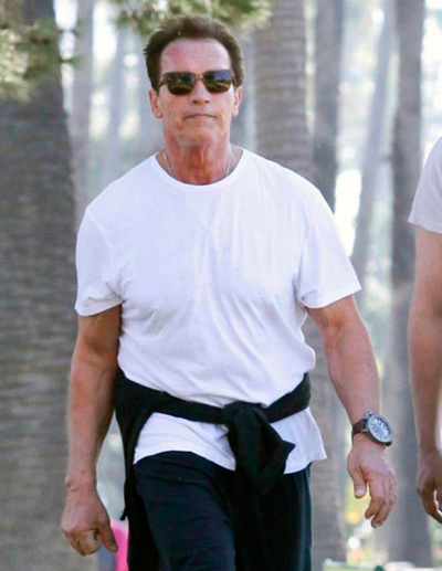 Schwarzenegger with U-BOAT U-42 watch