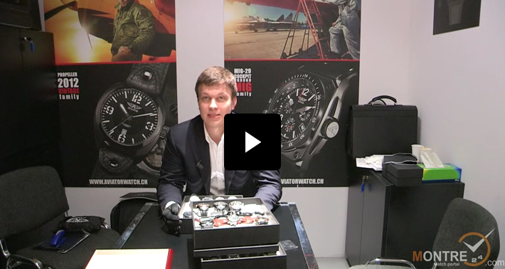 Aviator watches presentation at BaselWorld 2012