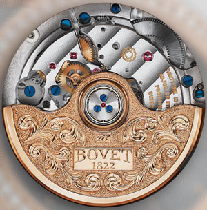 movement of Bovet Art (ref. Feurier 39 Gold Hourse) watch - caliber 11BA13