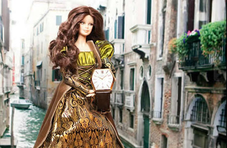 Barbie doll presents Vacheron Constantin Malte watch